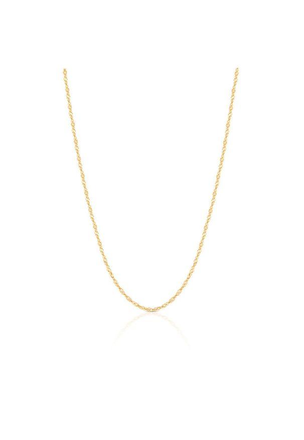 W.KRUK Wyjątkowy Złoty Łańcuszek - złoto 333 - ZVI/LS301. Materiał: złote. Kolor: złoty. Wzór: ze splotem
