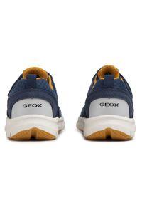 Niebieskie półbuty Geox z cholewką, na co dzień, casualowe, na rzepy