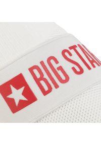 Białe półbuty Big-Star na płaskiej podeszwie, z cholewką #7