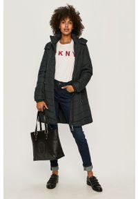 Czarna shopperka Trussardi Jeans duża, na ramię