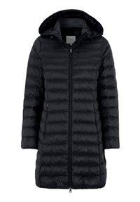 Cellbes Dłuższa lekka kurtka z wyściółką z puchu Czarny female czarny 62/64. Kolor: czarny. Materiał: puch. Długość: długie