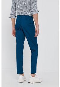 Sisley - Spodnie. Kolor: niebieski
