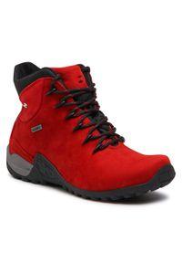 Czerwone buty trekkingowe Nik