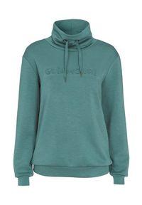 Zielony sweter Soyaconcept z nadrukiem