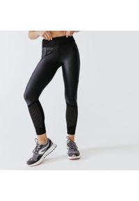 KALENJI - Legginsy Do Biegania Run Dry+ Feel Damskie. Materiał: poliester, materiał, elastan. Sport: bieganie