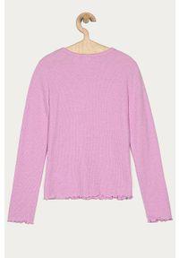Różowa bluzka z długim rękawem GAP na co dzień, casualowa