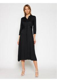 Czarna sukienka Calvin Klein koszulowa