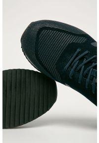 Niebieskie sneakersy Big-Star na sznurówki, z cholewką, z okrągłym noskiem