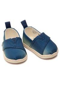 Toms - Półbuty TOMS - Alpargata 10016439 Indigo Multi. Okazja: na spacer. Zapięcie: rzepy. Kolor: niebieski. Materiał: materiał. Szerokość cholewki: normalna