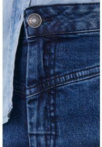Lee Cooper - Spódnica jeansowa. Okazja: na co dzień. Kolor: niebieski. Materiał: jeans. Wzór: gładki. Styl: casual