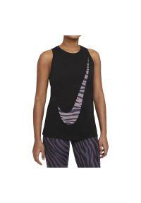 Koszulka damska Nike Dri-FIT Icon Clash DB9799. Materiał: bawełna, materiał, poliester. Technologia: Dri-Fit (Nike). Wzór: motyw zwierzęcy, gładki, nadruk. Sport: fitness