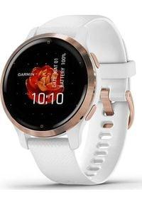 GARMIN - Zegarek sportowy Garmin Venu 2S Biały (010-02429-13). Kolor: biały. Styl: sportowy