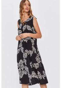 Czarna sukienka ANSWEAR na co dzień, prosta, midi, bez rękawów