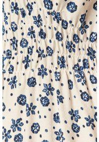 Pepe Jeans - Sukienka Lou. Kolor: biały. Materiał: tkanina. Długość rękawa: na ramiączkach. Typ sukienki: rozkloszowane