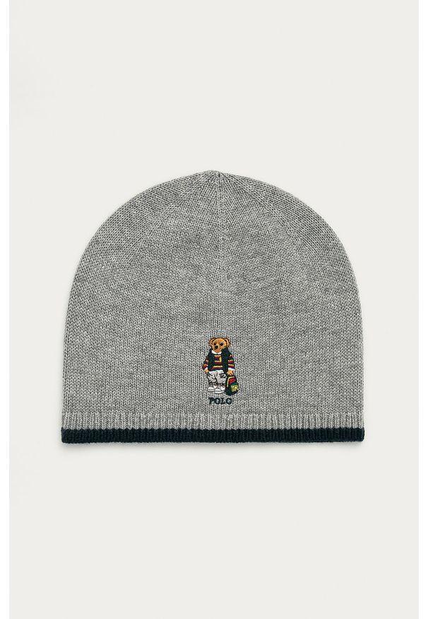 Szara czapka Polo Ralph Lauren z aplikacjami
