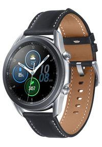 SAMSUNG - Samsung smartwatch Galaxy Watch 3 (45 mm) Silver. Rodzaj zegarka: smartwatch. Kolor: srebrny. Materiał: skóra. Styl: sportowy, militarny