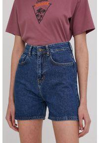 Answear Lab - Szorty jeansowe. Stan: podwyższony. Kolor: niebieski. Materiał: jeans. Styl: wakacyjny