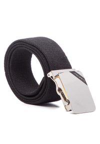 Calvin Klein - Pasek Męski CALVIN KLEIN - 4Cm Adj. Webbing Plaque Belt K50K504476 85 001. Kolor: czarny. Materiał: materiał, poliester