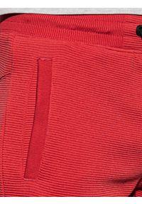 Ombre Clothing - Krótkie spodenki męskie dresowe W294 - czerwone - XXL. Kolor: czerwony. Materiał: dresówka. Długość: krótkie. Styl: sportowy, klasyczny