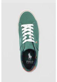 Polo Ralph Lauren - Tenisówki. Zapięcie: sznurówki. Kolor: zielony. Materiał: guma
