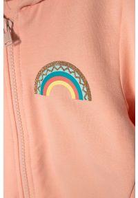 Różowa bluza rozpinana OVS z kapturem, casualowa