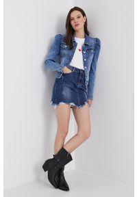 Answear Lab - Spódnica jeansowa. Okazja: na co dzień. Kolor: niebieski. Materiał: jeans. Styl: wakacyjny