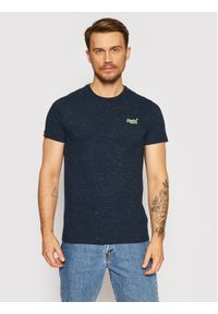 Superdry T-Shirt Vintage Emb Crew M1010024A Granatowy Regular Fit. Kolor: niebieski. Styl: vintage
