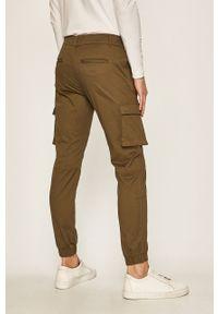 Oliwkowe spodnie Only & Sons gładkie, casualowe, na co dzień