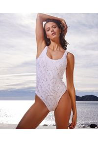 Biały strój kąpielowy jednoczęściowy Etam