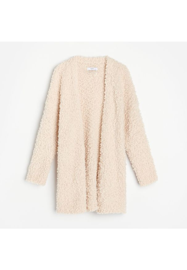 Kremowy sweter Reserved długi