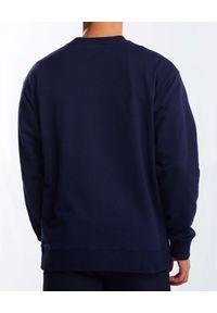 GANT - Granatowy bluza z monochromatycznym logo. Kolor: niebieski. Materiał: bawełna, dresówka. Długość rękawa: długi rękaw. Długość: długie #3
