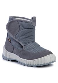Szare buty zimowe Froddo z cholewką za kostkę, z cholewką