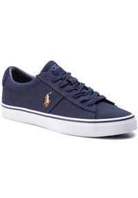 Niebieskie sneakersy Polo Ralph Lauren na co dzień, z cholewką