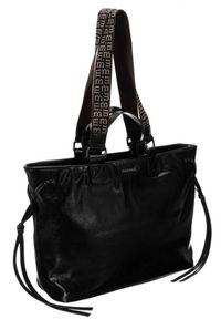Czarna torebka Monnari zdobiona, z aplikacjami, klasyczna