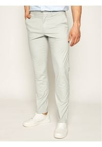 Tommy Hilfiger Tailored Spodnie materiałowe MERCEDES-BENZ Chino TT0TT07196 Szary Straight Fit. Kolor: szary. Materiał: materiał, bawełna, elastan