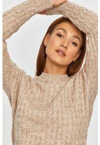 Beżowy sweter Answear Lab wakacyjny, z długim rękawem, na co dzień