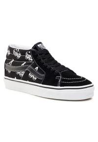Vans - Sneakersy VANS - Sk8-Mid VN0A3WM34WW1 (New Varsity) Blk/Tr Wht. Okazja: na co dzień. Kolor: czarny. Materiał: zamsz, skóra, materiał. Szerokość cholewki: normalna. Styl: klasyczny, casual. Model: Vans SK8
