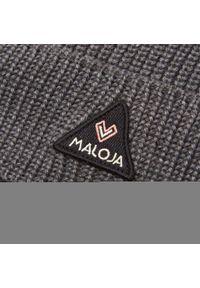 Maloja - Czapka MALOJA - Druckhenm. 30605-1-8439 Moonless Melange. Kolor: szary. Materiał: wełna, poliester, materiał