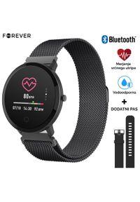 Czarny zegarek FOREVER sportowy, smartwatch