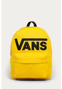 Żółty plecak Vans z aplikacjami