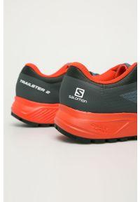 Szare buty trekkingowe salomon z cholewką, na sznurówki