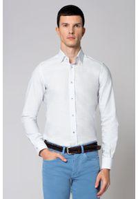 Biała koszula Lancerto klasyczna, z włoskim kołnierzykiem