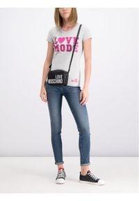 Love Moschino - LOVE MOSCHINO T-Shirt W4B194VE2065 Slim Fit. Kolor: szary