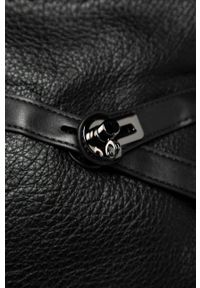 Czarna shopperka Answear Lab duża, na ramię, skórzana, wakacyjna