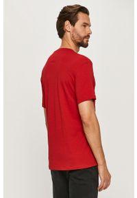 Czerwony t-shirt Armani Exchange casualowy, na co dzień