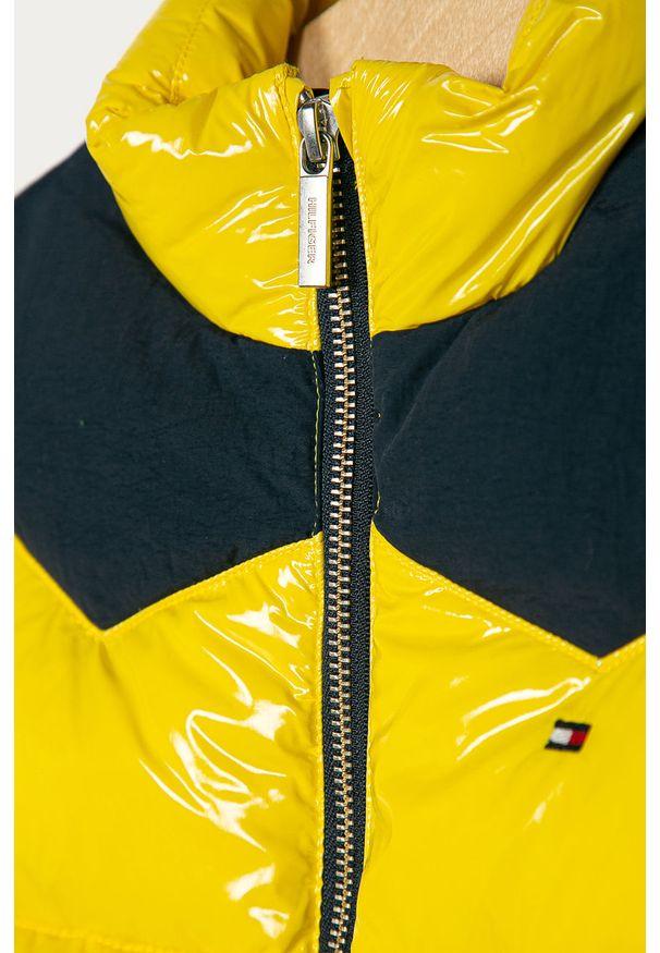 Żółta kurtka TOMMY HILFIGER bez kaptura, casualowa, na co dzień