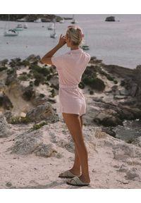 ARAMINTA JAMES - Różowy kombinezon Terry Towelling. Kolor: różowy, wielokolorowy, fioletowy. Materiał: bawełna. Wzór: aplikacja