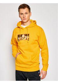 HUF Bluza KILL BIL Revenge PF00405 Żółty Regular Fit. Kolor: żółty