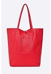 Czerwona shopperka ANSWEAR na ramię, duża
