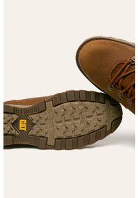 Sneakersy CATerpillar na sznurówki, z okrągłym noskiem, z cholewką #4